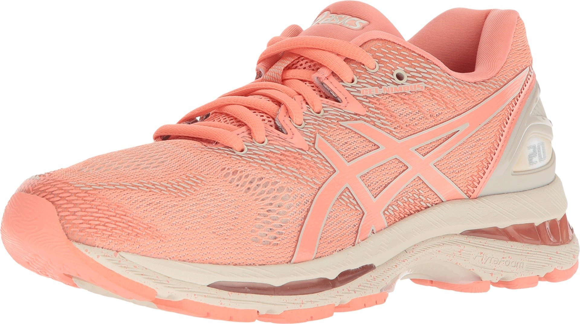 ASICS Women's Gel-Nimbus 20 Running Shoe, cherry/coffee/blossom, 6.5 Medium US by ASICS