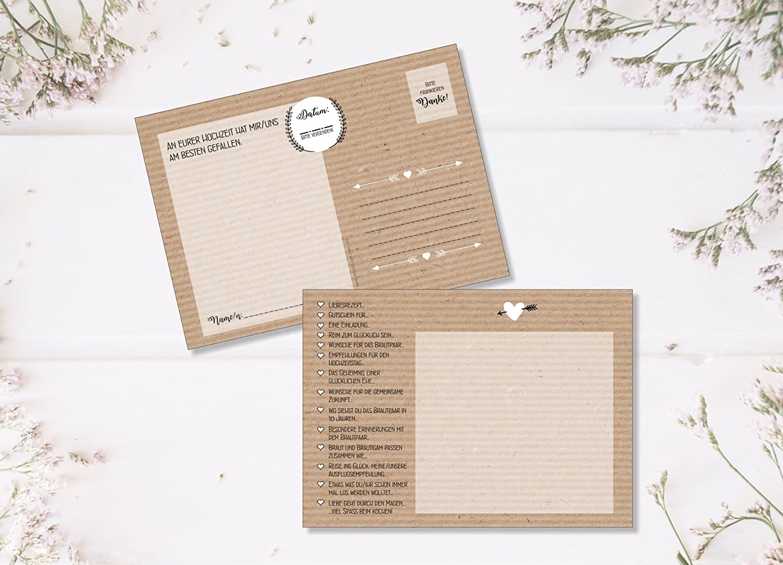 Hochzeitsspiel 52 Postkarten Mit Fragen Statt Gastebuch Fur Hochzeit