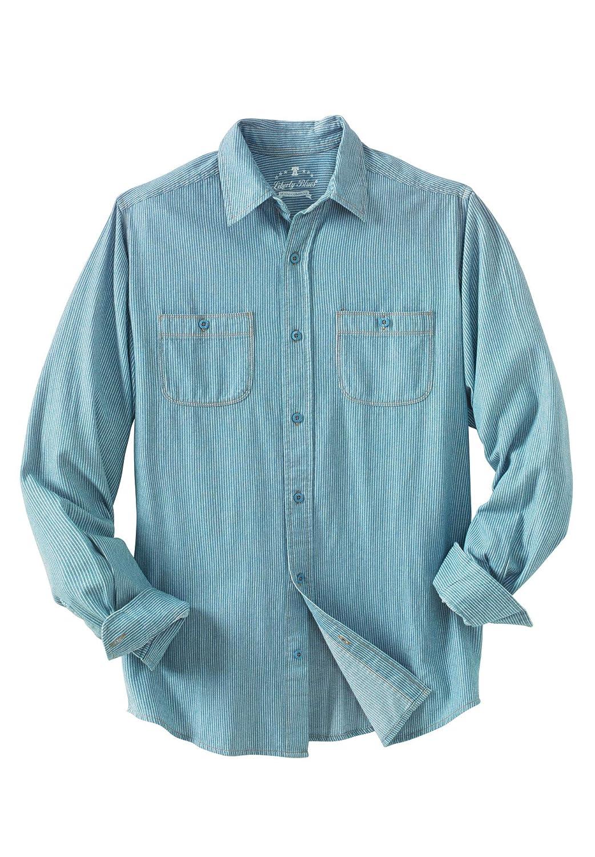 Liberty Blues Mens Big /& Tall Long-Sleeve Utility Shirt