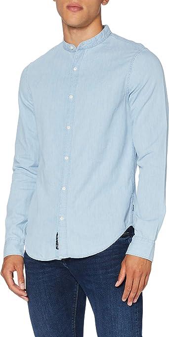 Superdry LS Classic Twill Lite Grandad Camisa para Hombre