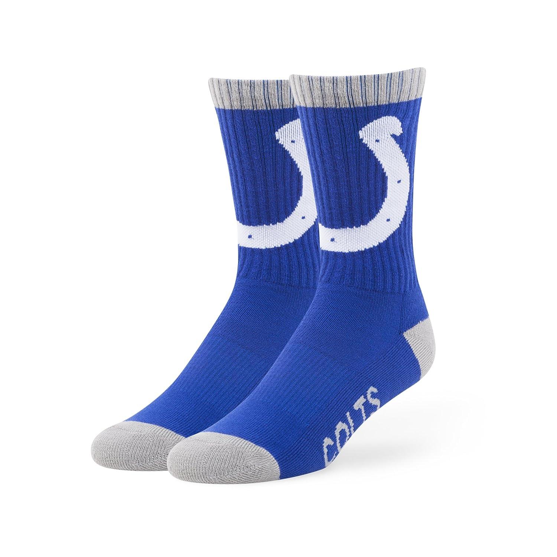NFL Indianapolis Colts '47 Bolt Sport Socks, Royal, Medium (Men's 5-8.5 / Women's 5-9.5), 1-Pack Twins Enterprise/47 Brand F-BOLT14PBE-RY-M