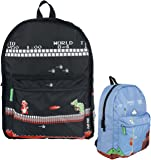 Nintendo Classic Mario Gameplay Unisex Reversible Backpack Casual Daypack