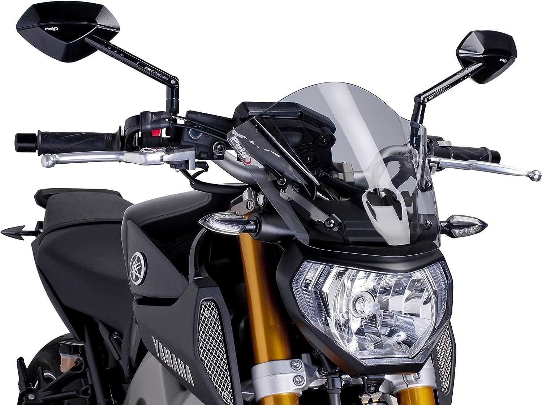 colore grigio scuro Puig 6859F parabrezza per Yamaha MT-09 2013-2014 M taglia