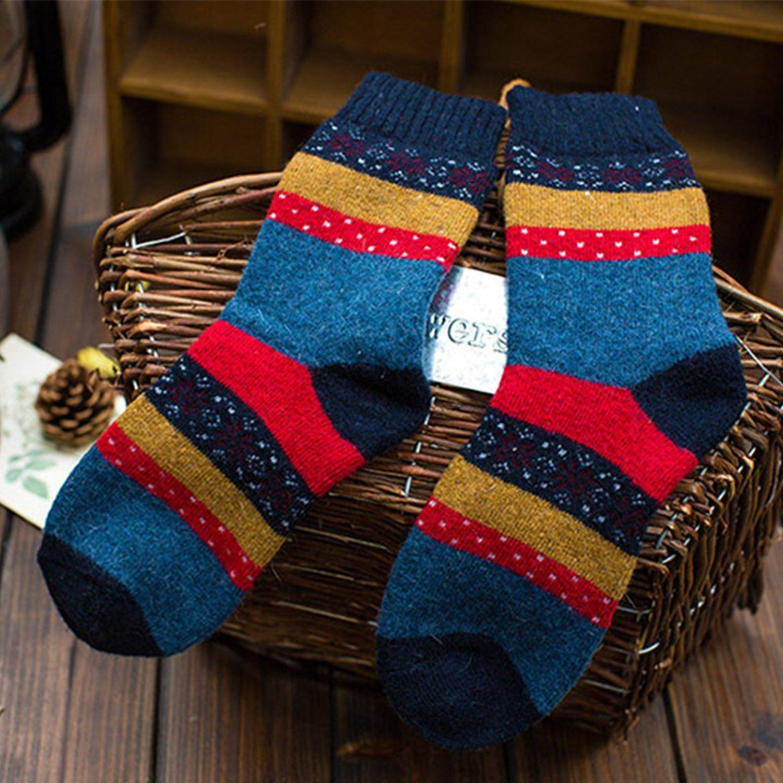 annata donne calzini per linverno 5-pack colori mix YSense Calze di lana