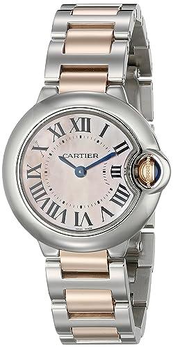 Cartier Ballon Blue Reloj de Mujer Cuarzo 28mm Correa de Acero Dorado W6920034: Amazon.es: Relojes