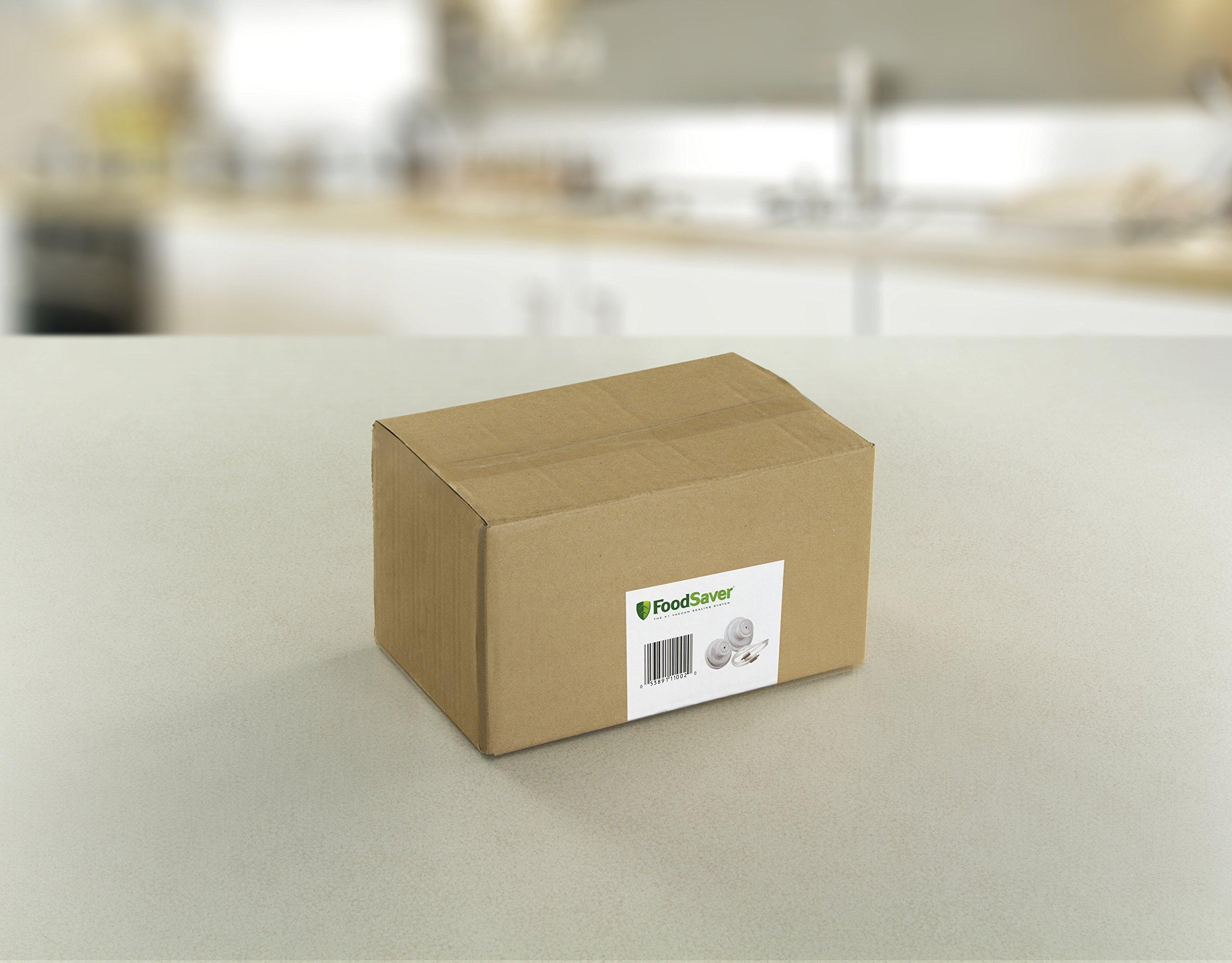 FoodSaver Vacuum Sealer FCARWJAH-000 Wide-Mouth Jar Kit with Regular Sealer and Accessory Hose, White by FoodSaver (Image #3)