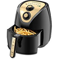Black+Decker 2.5L 1500W Manual Air Fryer AerOfry with Rapid Air Covection Technology, Gold/Black - AF250G-B5