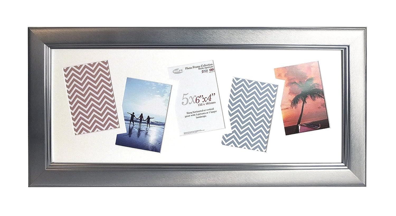 Inov8 British Made Bilderrahmen Bilderrahmen, gebürstet groß Silber 25 x 10 Multi App Zoll, 2 Stück
