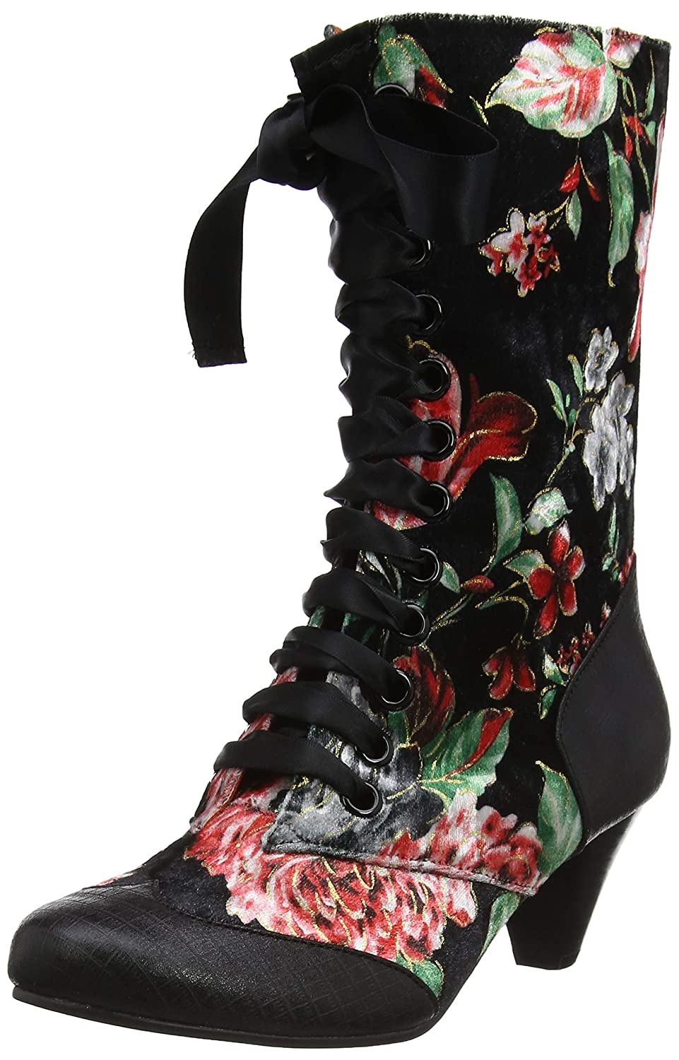 Poetic Licence by 19954 Irregular Choice Lady K) Victoria, Poetic Bottes Femme Noir (Black Multi Floral K) 9129f4f - piero.space