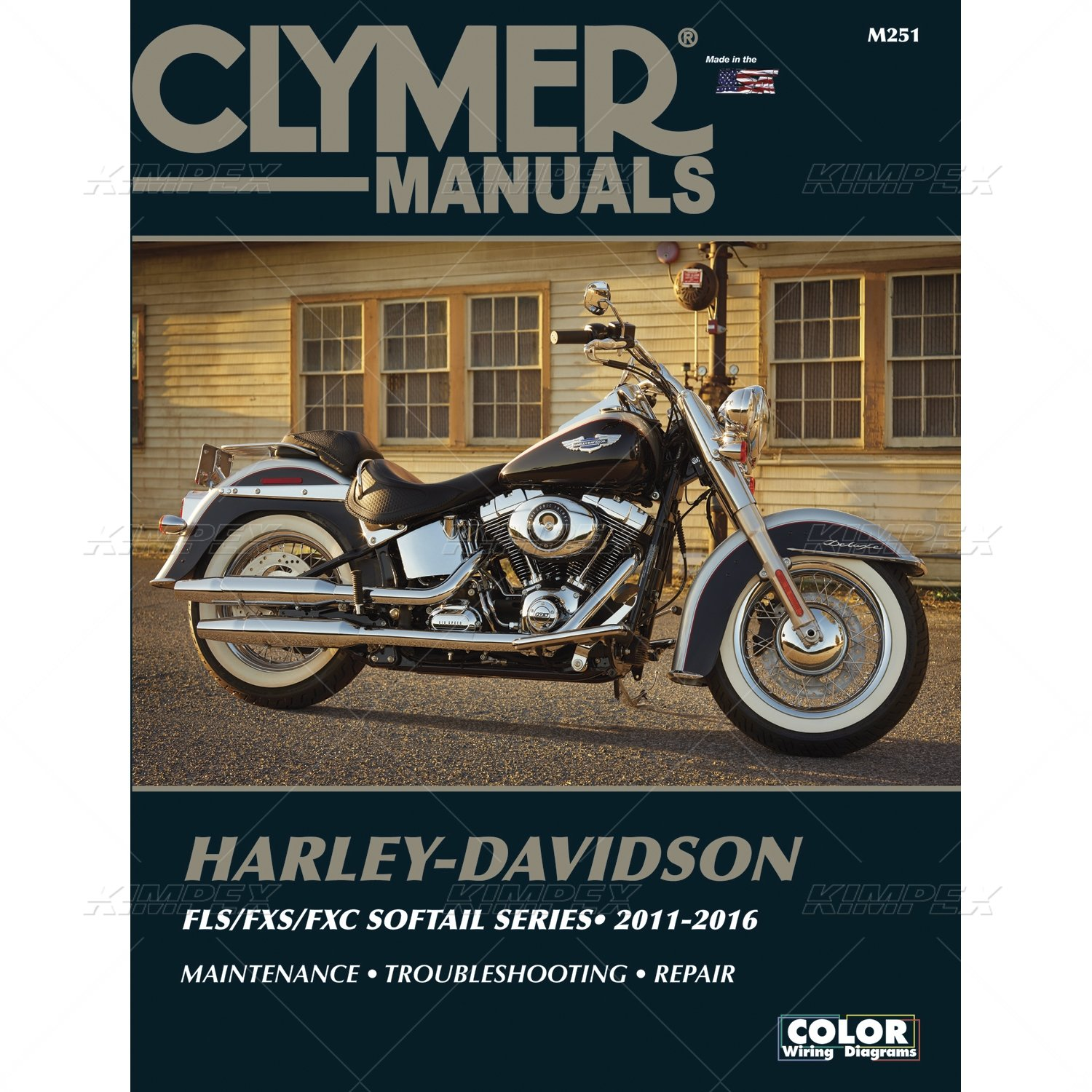Clymer Harley Davidson Flst Fxst Softails 11 16 Manual 2014 Switch Back Wiring Diagram Automotive