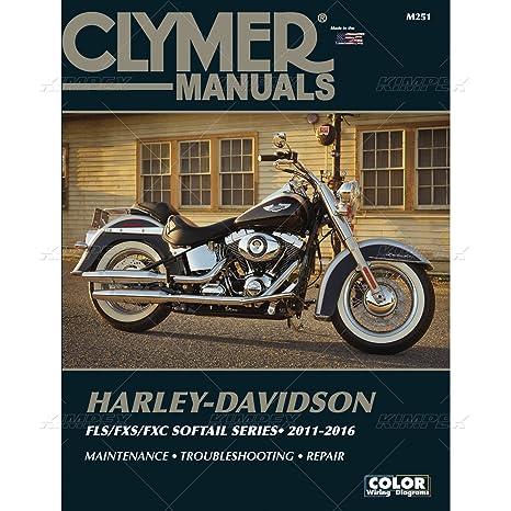 amazon com clymer harley davidson flst fxst softails 11 16 manual rh amazon com 1998 Harley-Davidson Motorcycle Service Manuals 1959 1969 Harley-Davidson Service Manual