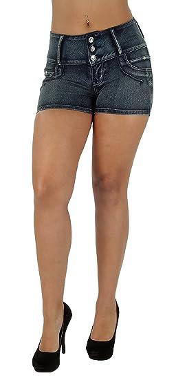 c53c453c6f2ef Fashion2Love D700SH P – Plus Size Colombian Design Butt Lifting High Waist  Denim Booty Shorts