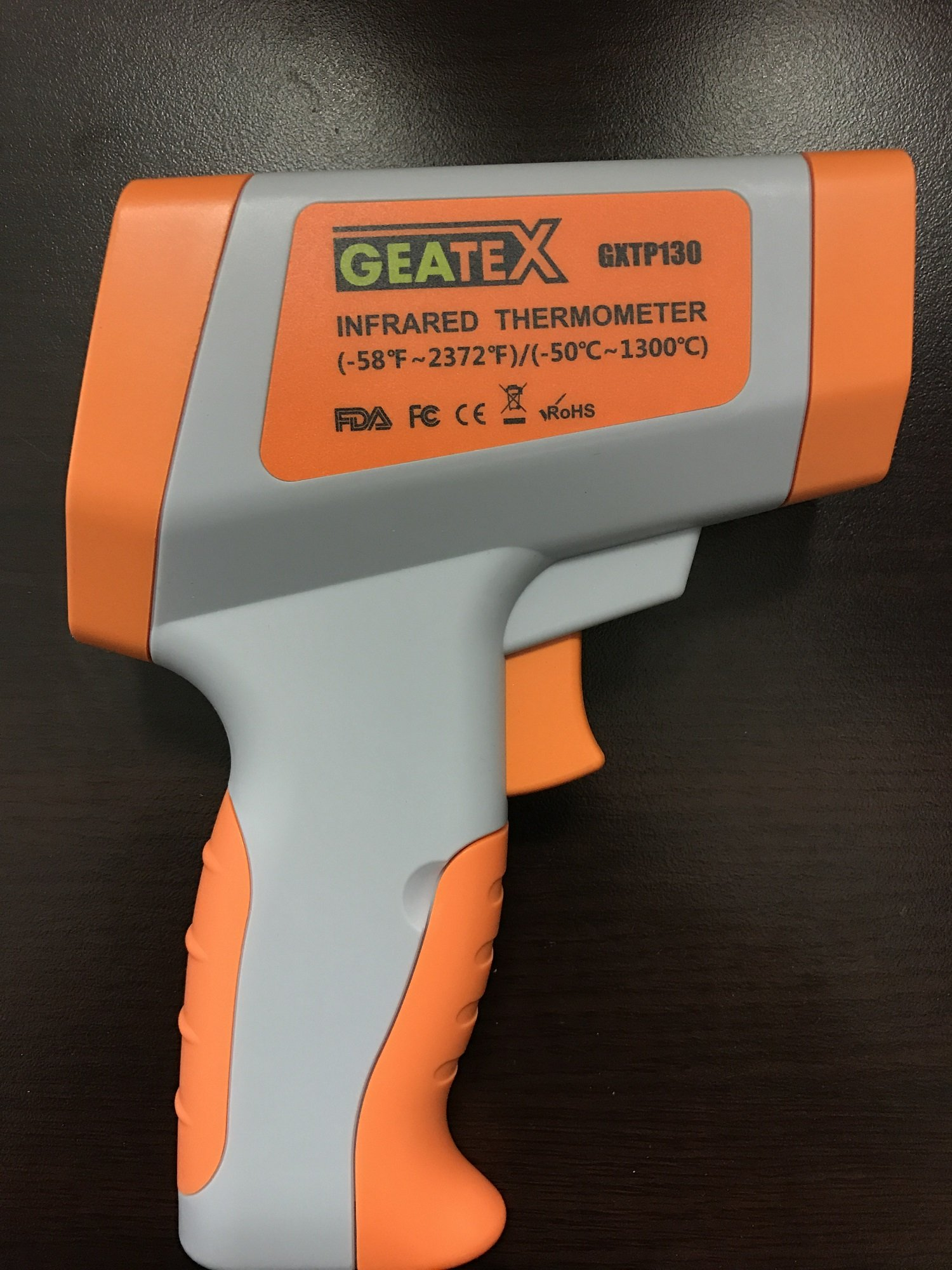 Geatex Professional Lasergrip GXTP130 Non-contact Digital Infrared Thermometer, Dual Laser Distance Spot Ratio: 50:1