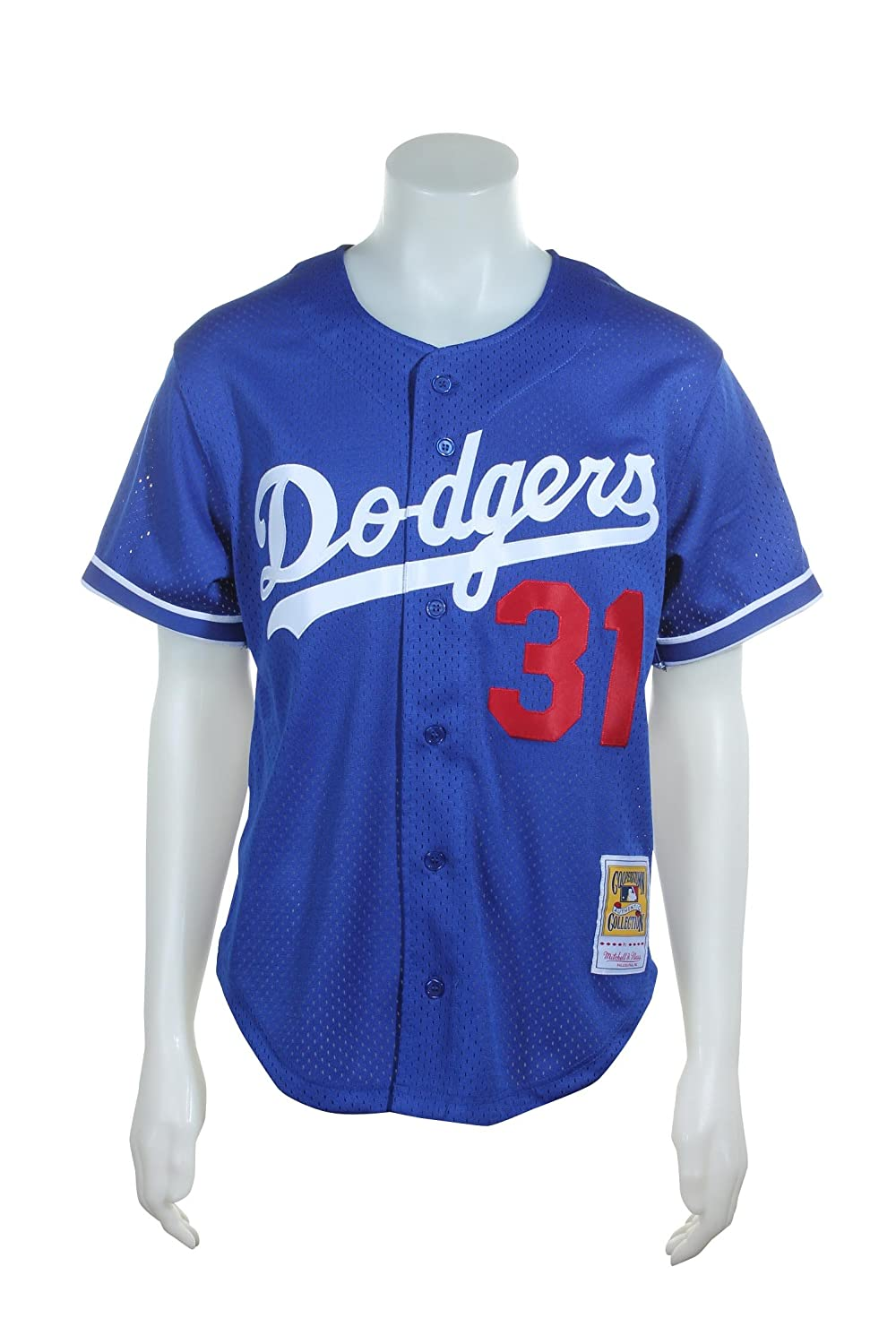57cf8c3d3 Mitchell   Ness Mike Piazza Blue Los Angeles Dodgers Authentic Mesh Batting  Practice Jersey