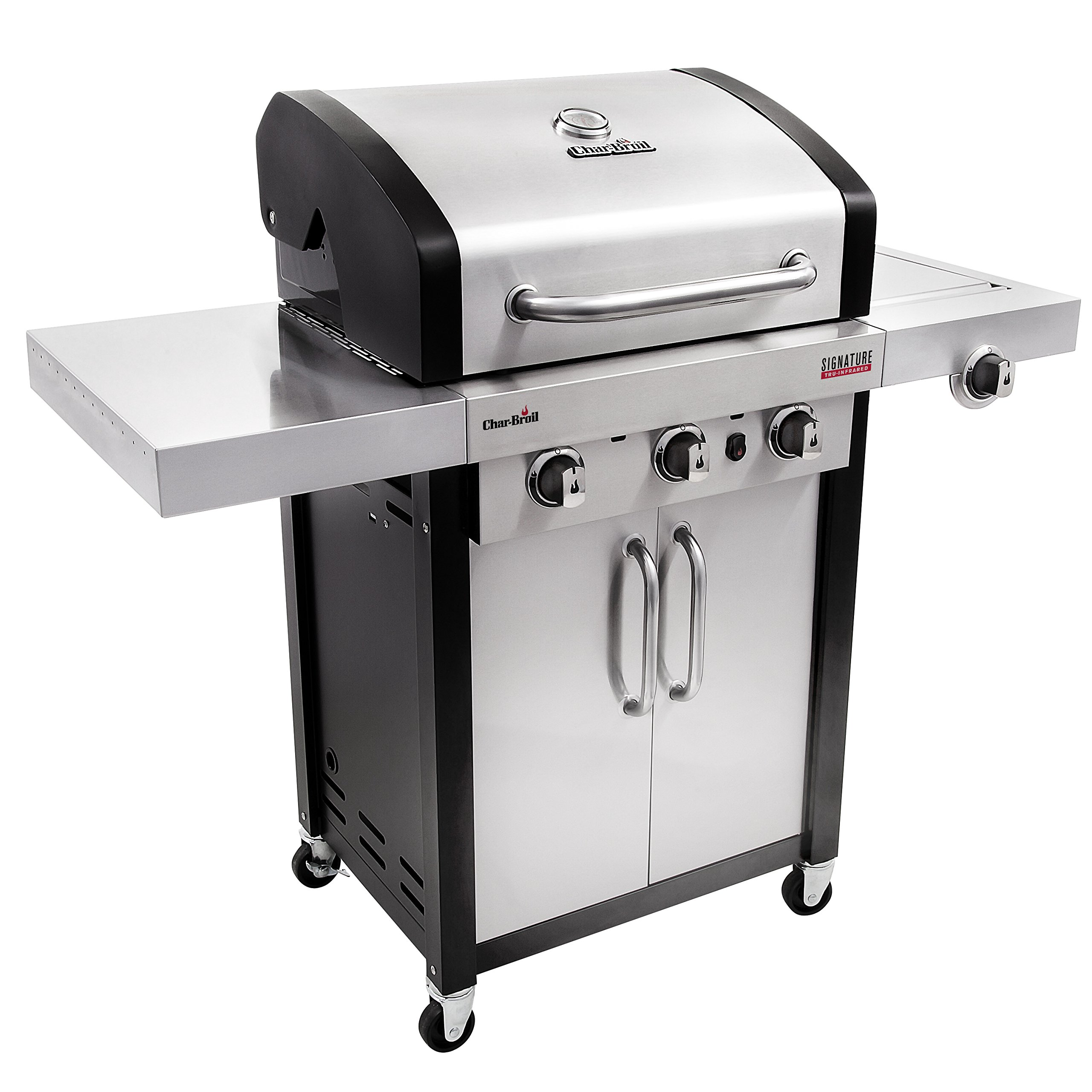Char-Broil Signature TRU-Infrared 420 3-Burner Cabinet Liquid Propane Gas Grill by Char-Broil