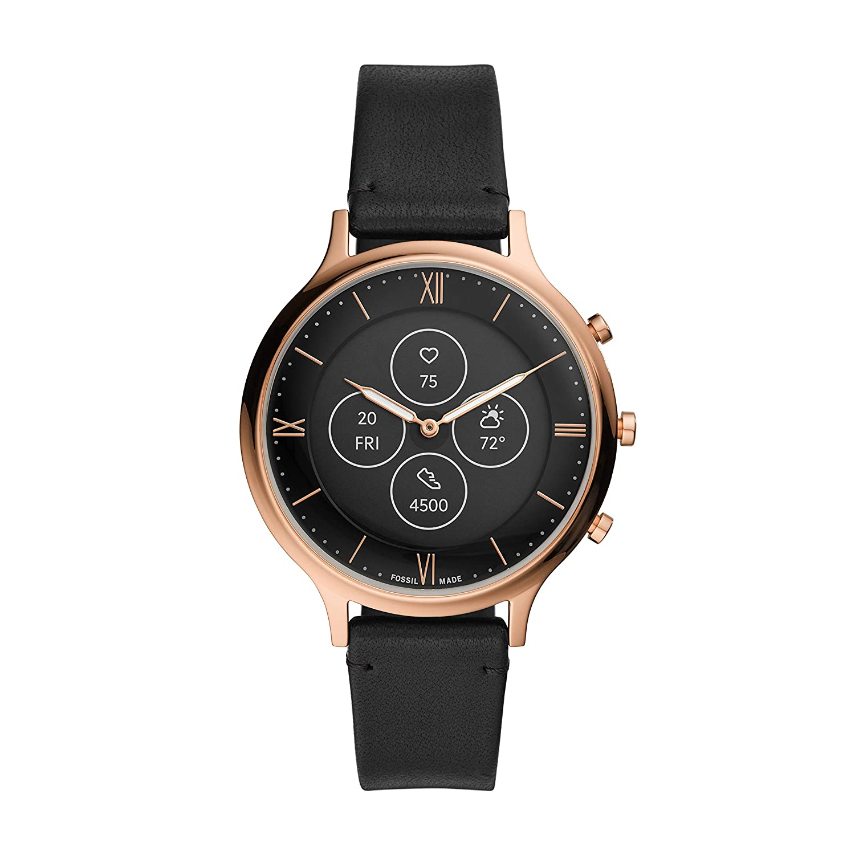 Fossil Charter Hybrid Hr Smartwatch Black Dial Women's Watch - FTW7011