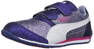 PUMA Girls  Steeple Glitz Glam V PS Running Shoe Lavendar Lustre 770108e90