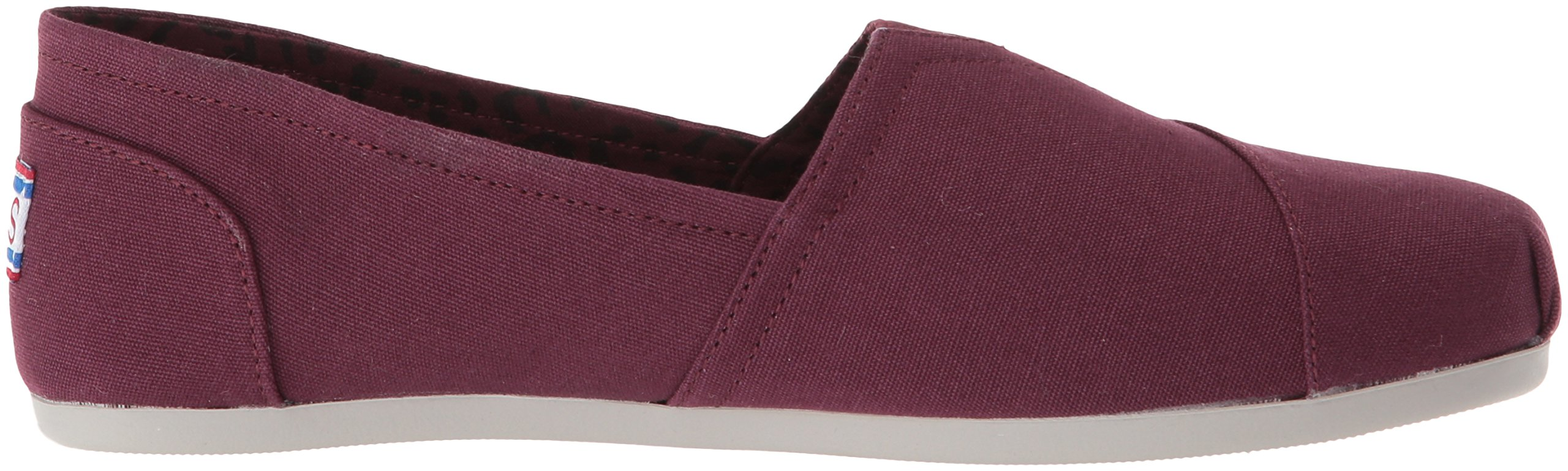 Skechers BOBS Women's Plush-Peace and Love Ballet Flat, Burgundy, 8 M US by Skechers (Image #6)