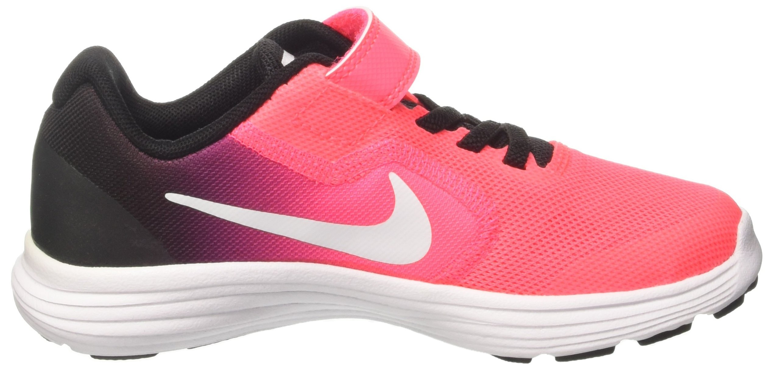 NIKE Kids' Revolution 3 (Psv) Running-Shoes, Black/White/Racer Pink/Black, 1.5 M US Little Kid by Nike (Image #6)