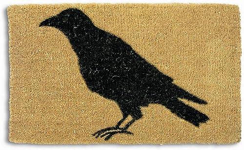 Tag Black Crow Coir Doormat Indoor Outdoor Welcome Mat 1 6 x 2 6 Natural