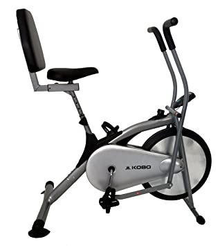 Kobo AB-3 Exercise Bike (Silver) Aerobic Training Machines at amazon