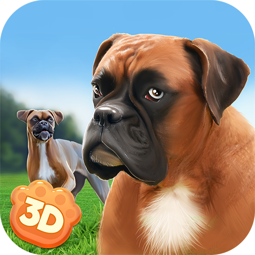 Boxer Dog in Concrete Jungle: Home Pet Animal Sim | Play Tricks in Doggy Dog World City Monster Breeds