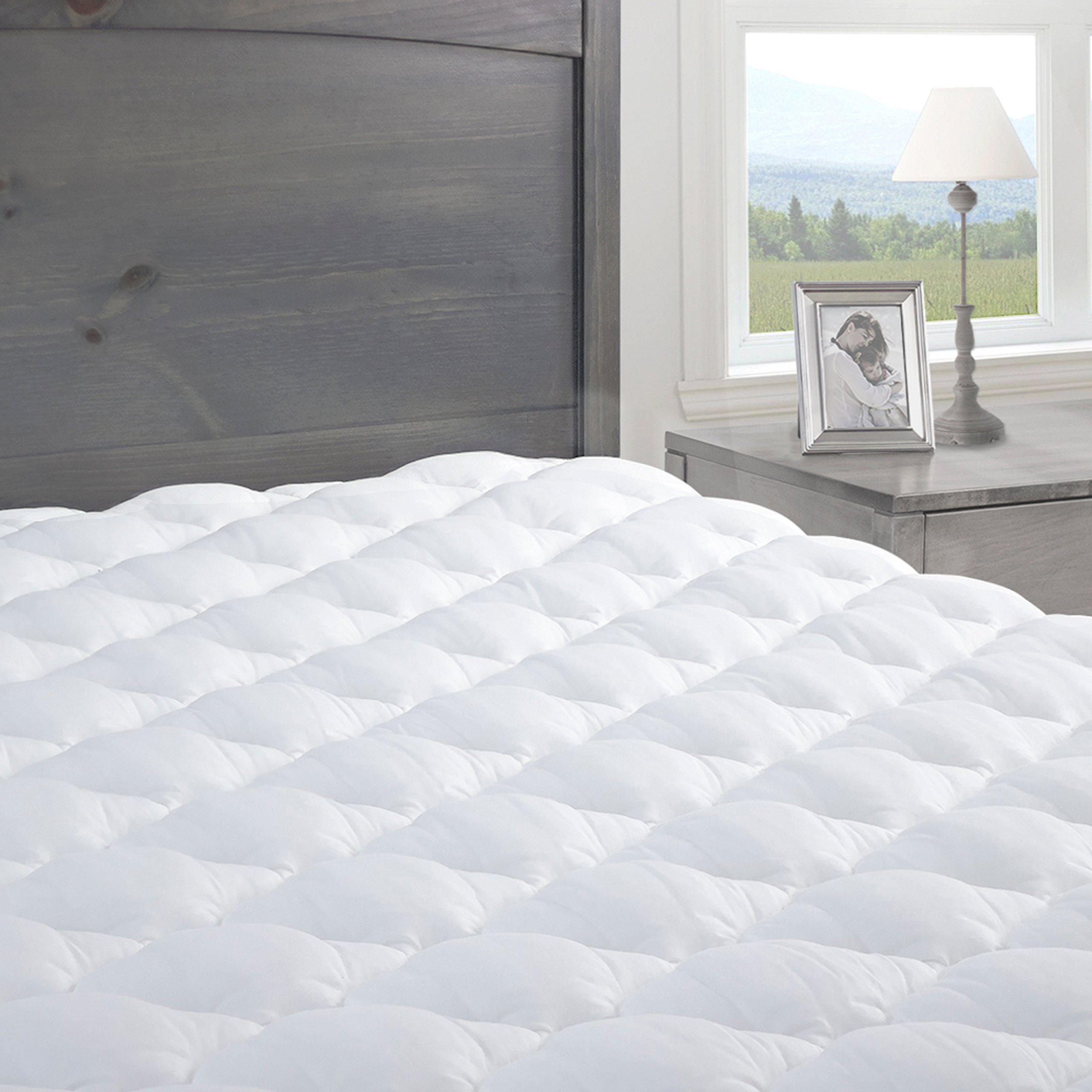 Pressure Relief Mattress Pad with Fitted Skirt |Bedsore Prevention Mattress Pads | Hypoallergenic Mattress Topper | Made in the USA, King