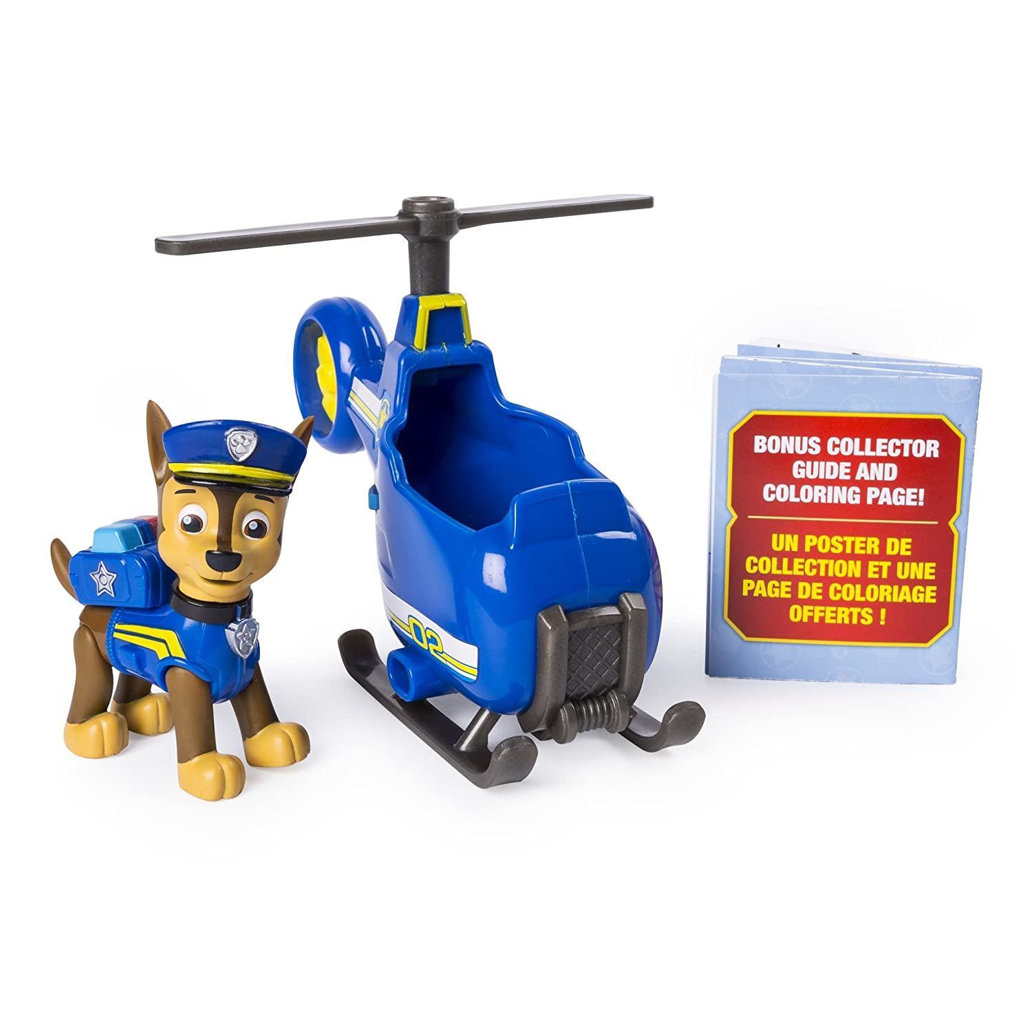 Paw Patrol 20101379-6046665 Ultimate Rescue, Chase's Mini Helicopter with Collectible Figure for Ages 3 and Up