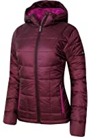 Columbia Women's Discovery Peak II OMNI HEAT HOODED PUFFER Jacket BURGANDY