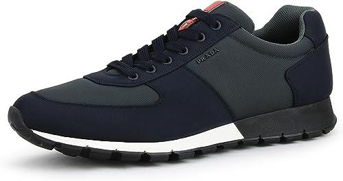 the best meet authentic Amazon.com   Prada Men's Nylon Tech Low-top Trainer Sneaker, Blue ...