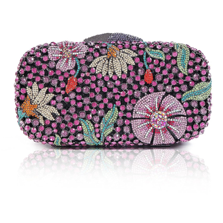 Damara Womens Exquisite Luxury Evening Party Minaudiere Hardcase Clutch Bag