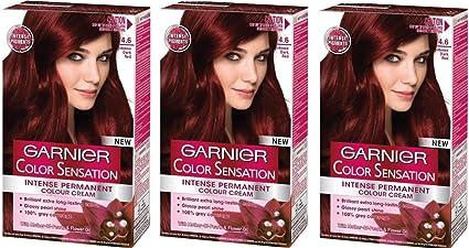 Garnier Color Sensation tinte permanente para el pelo, color 4 ...
