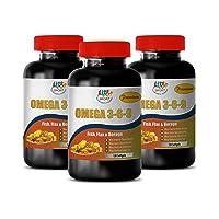 Inflammation Pills Natural - Omega 3 6 9 Premium (Fish Flax Borage) - Omega Fish...
