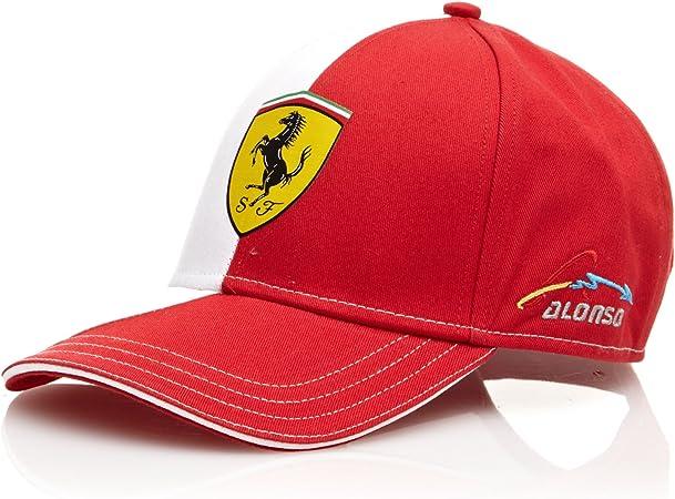 Ferrari Gorra Alonso Logo Rojo Única: Amazon.es: Deportes y aire ...