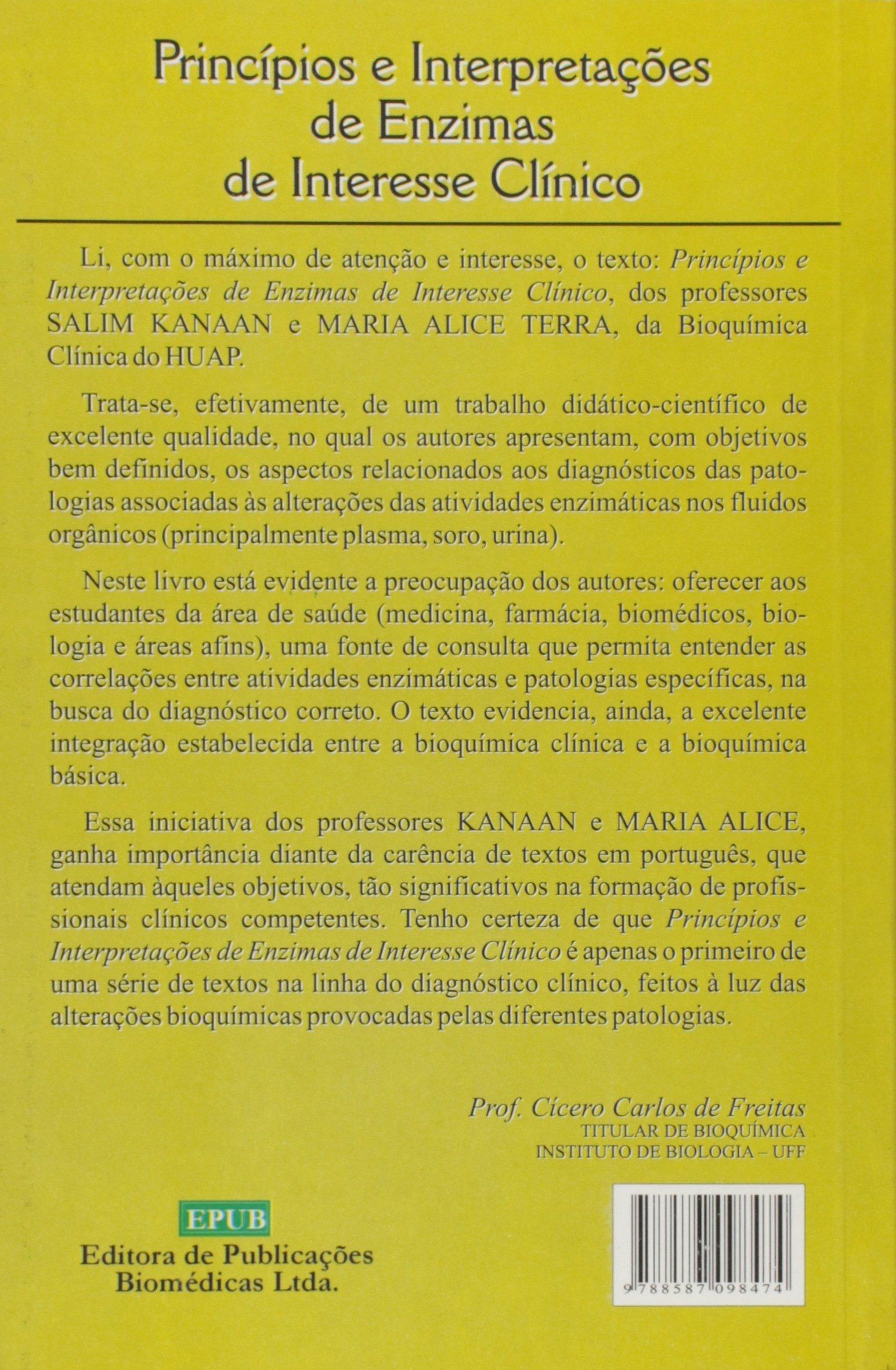 Principios E Interpretacoes De Enzimas E Interesse Clinico: Vários ...