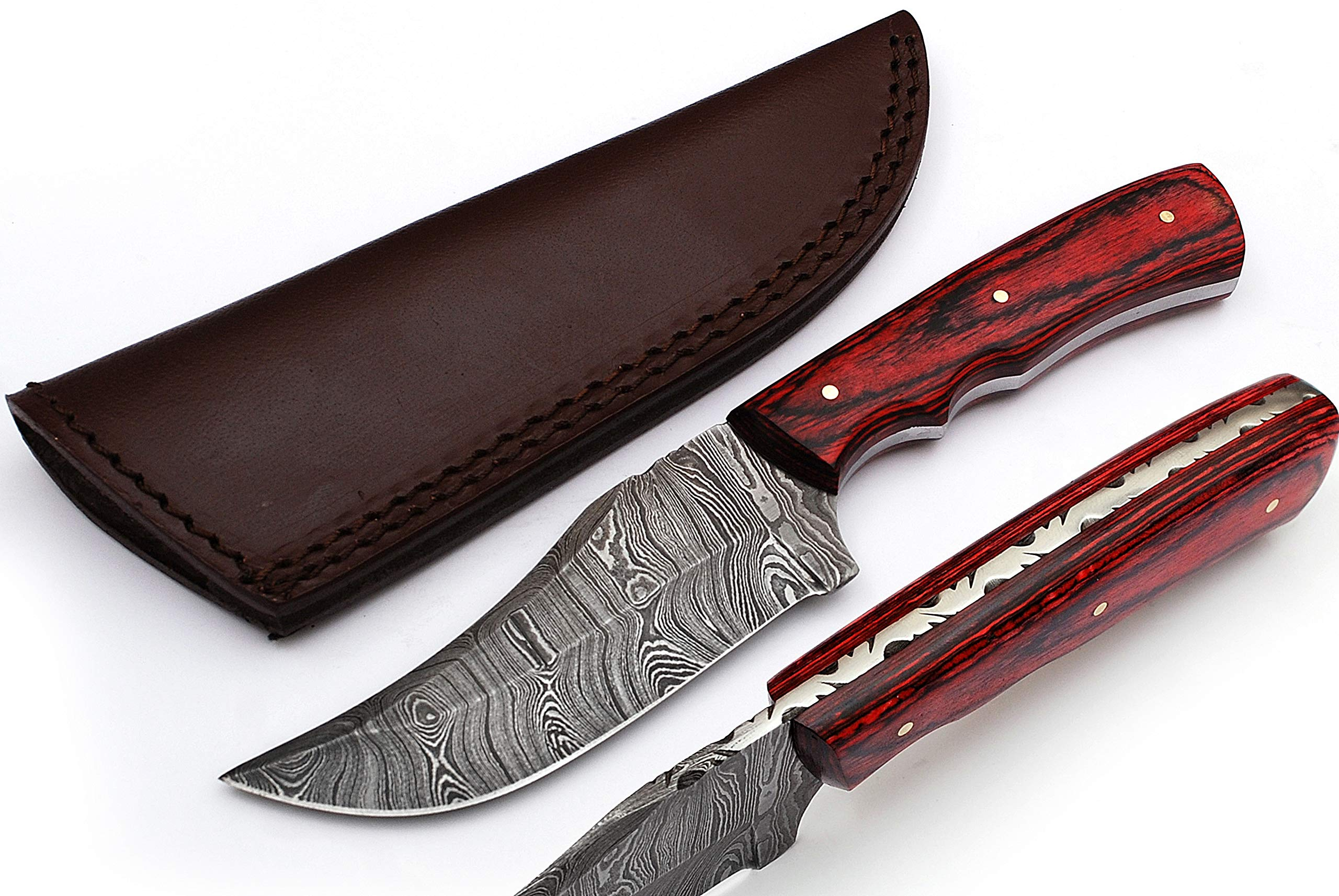 Anna Home Collection Custom Made Damascus Steel Hunting Knife AN-9013-RD
