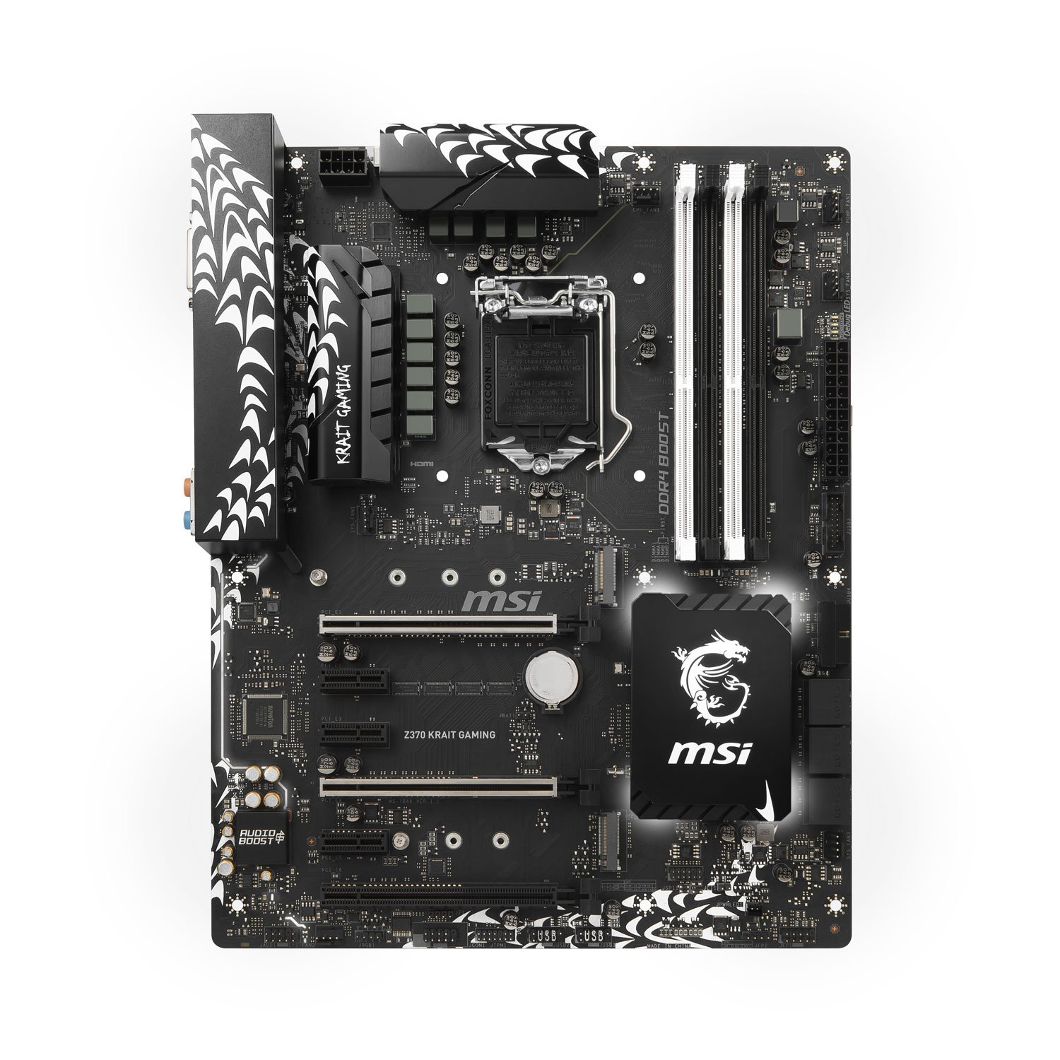 MSI Z370 Krait Gaming Carte mère, Noir