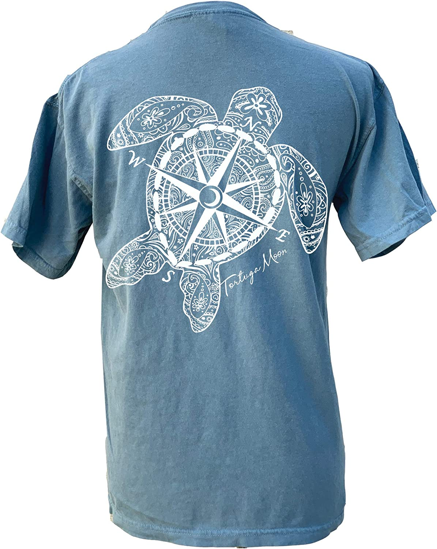 Tortuga Moon Compass Moon Sea Turtle Comfort Colors T-Shirt
