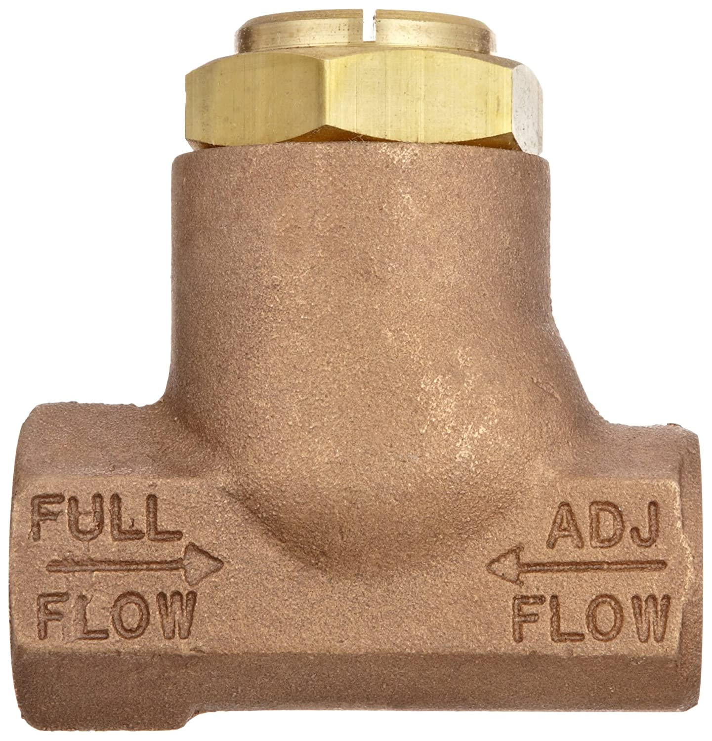 Standard Adjustment Parker 032500519 3250 Series Brass Inline Flow Control Valve 250 psi 3//4 NPTF