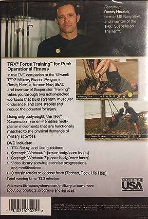 TRX Entrenamiento DVD de Fuerza, Programa de Entrenamiento ...