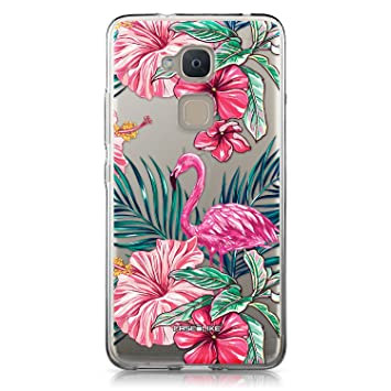 CASEiLIKE® Funda BQ V Plus, Carcasa BQ Aquaris V Plus, Flamenco Tropical 2239, TPU Gel Silicone Protectora Cover