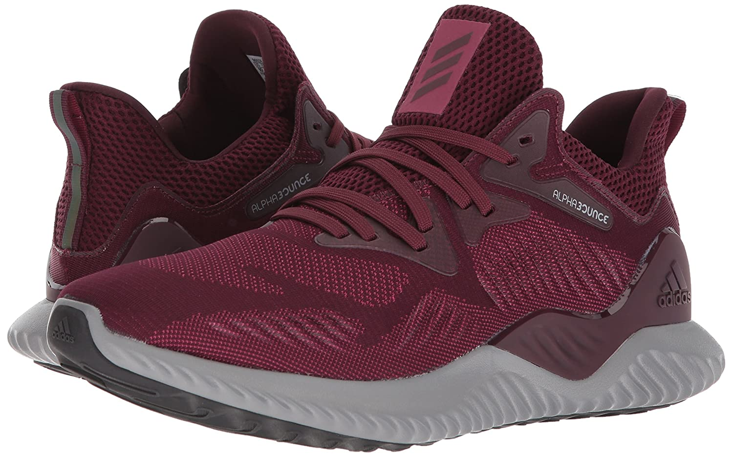 best sneakers 62d59 bb403 Amazon.com  adidas Performance Alphabounce 2 m, MaroonMaroonMystery  Ruby, 16 Medium US  Road Running
