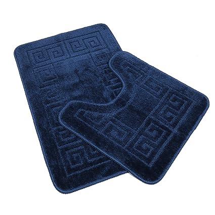 pauwer bath mats sets 2 piece non slip pedestal and bath mat set for rh amazon co uk Amazon Bath Rugs Sets Zibra Amazon Bath Set