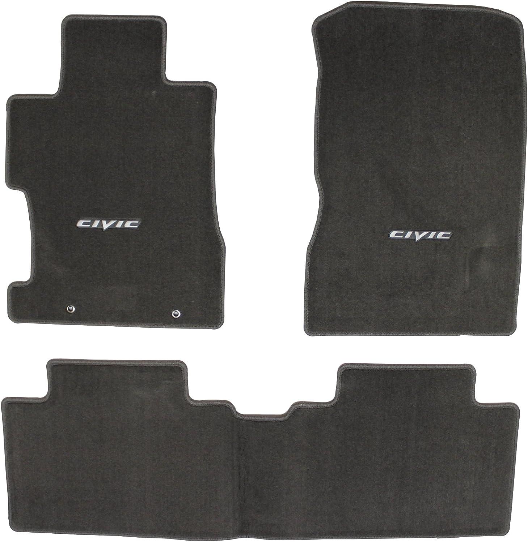 Amazon Com Genuine Honda Accessories 08p15 Sna 120b Gray Floor Mat For Select Civic Models Automotive