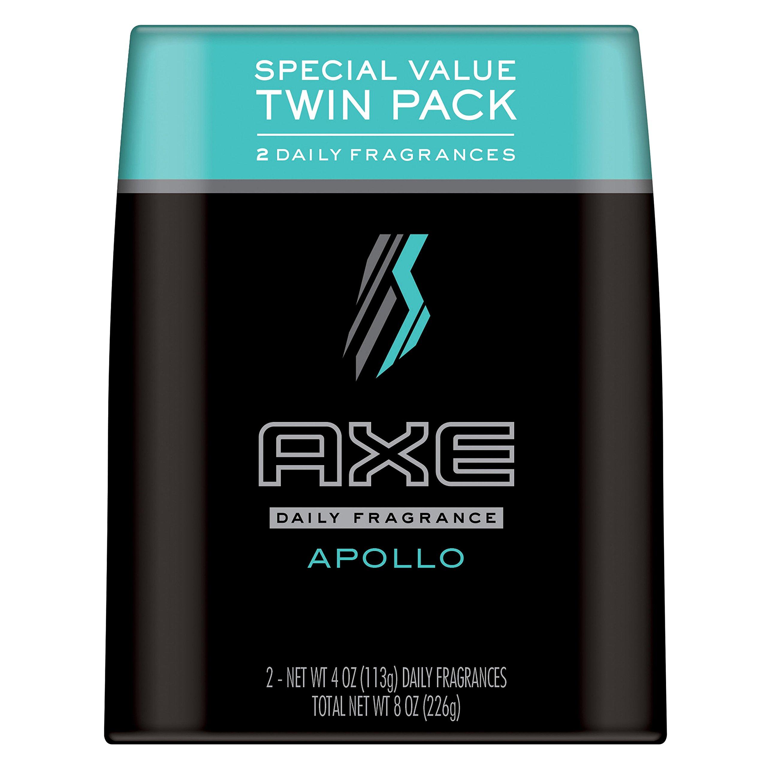 AXE Body Spray for Men, Apollo 4 oz, Twin Pack