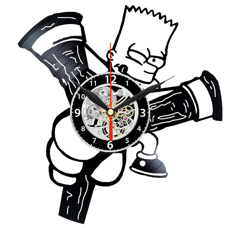 EVEVO Bart Simpson The Simpsons - Reloj de Pared (Vinilo, Hecho a ...