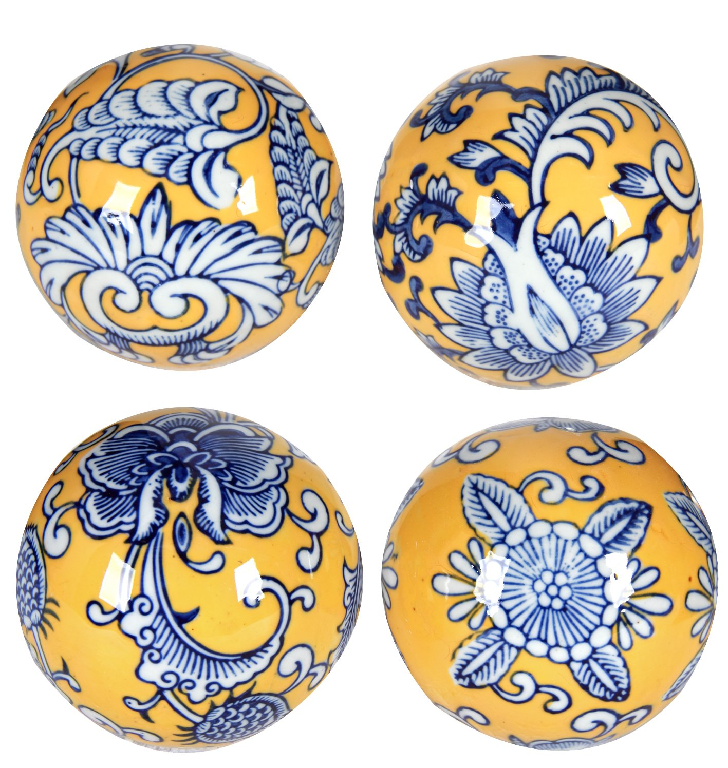 A&B Home Set of 4 Decorative Orbs by A&B Home