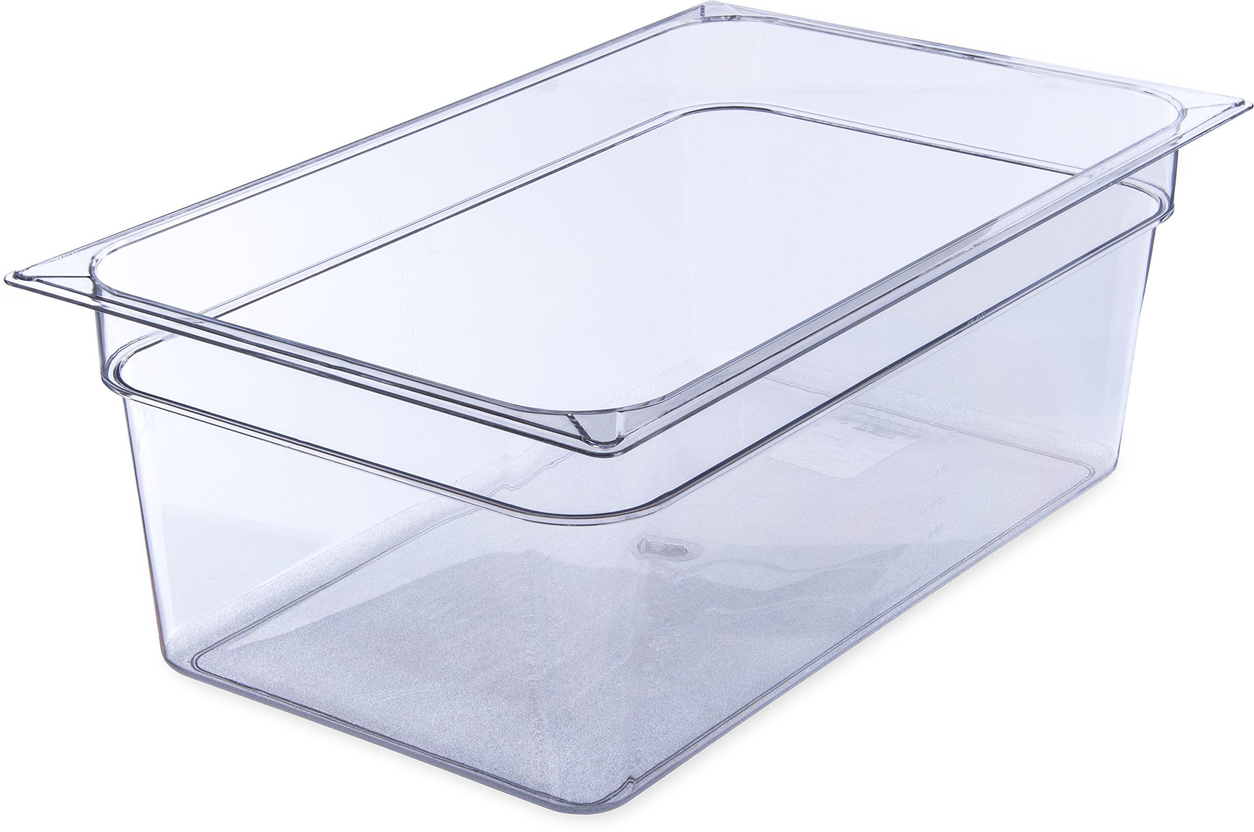 Carlisle 10203B07 StorPlus Full Size Polycarbonate Food Pan, 8'' Deep, Clear