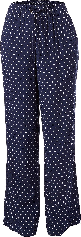 Rafaella Womens Polkadot Print Pull-on Fluid Pant