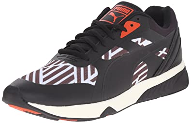 PUMA Women s 698 Ignite Stripes Sportstyle Sneaker, White Black Grenadine,  ... daa33bb01d